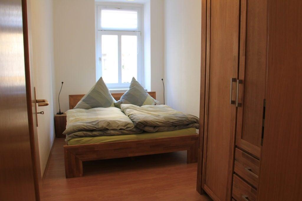 Ferienwohnung in Leipzig Schlafzimmer