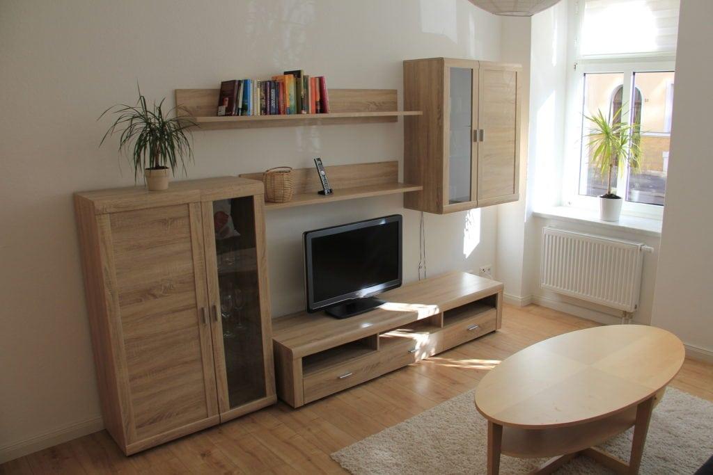 Ferienwohnung in Leipzig Wohnzimmer mit Smart-TV