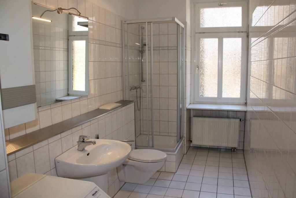 Ferienwohnung in Leipzig Badezimmer