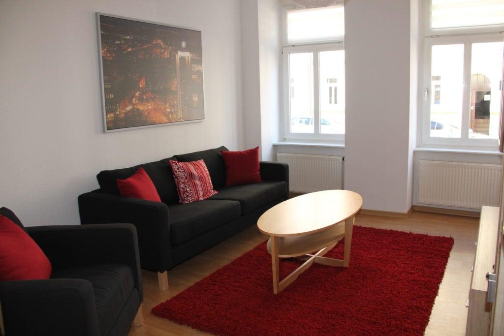 Ferienwohnung in Leipzig Wohnzimmer